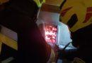 Pożar sadzy w Stasikówce