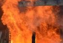 Pożar stolarni w Orawce