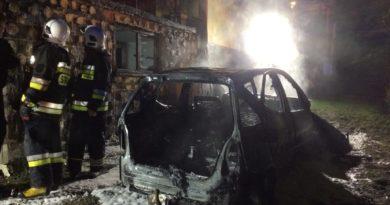 W Szczawnicy spłonął samochód osobowy