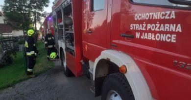 Wybuch gazu na prywatnej posesji w Jabłonce