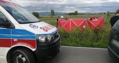 Nie żyje rowerzysta potrącony w Czarnym Dunajcu