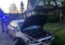 Zderzenie samochodów osobowych w Dzianiszu