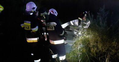Wyłowiono ciało mężczyzny. Nocna akcja strażaków w Zubrzycy Górnej
