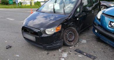 Waksmund – zderzenie dwóch samochodów osobowych