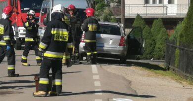 Stare Bystre – zderzenie z udziałem  4 samochodów