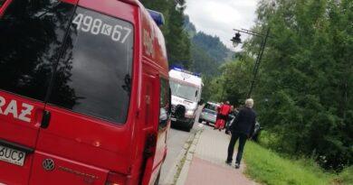 Kierowca stracił panowanie nad samochodem i zatrzymał się na poboczu