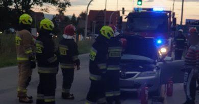 Pożar samochodu osobowego w Szaflarach