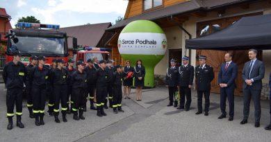 Strażacy z Szaflar otrzymali dodatkowe wsparcie z Urzędu Marszałkowskiego