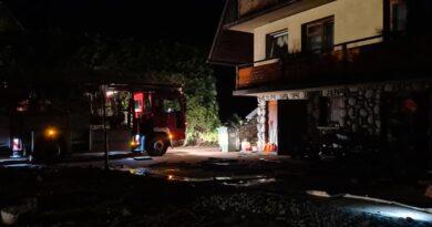 Nocny pożar w Poroninie