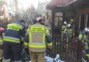 Pies uratowany z pożaru przez strażaków (zdjęcia)