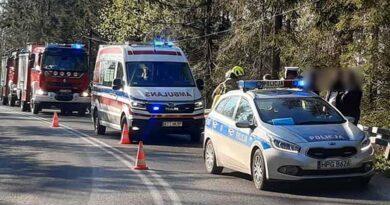 Seria wypadków na drogach Podhala z udziałem motocykli