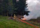 Interweniowało kilka zastępów straży by ugasić……. ognisko