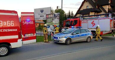 Strażacy zatrzymali kierowcę, który chciał oddalić się z miejsca zdarzenia