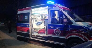 Bardzo groźne zdarzenie – poszkodowany z obrażeniami w szpitalu (zdjęcia)