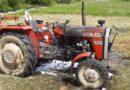 Traktor zapalił się podczas prac polowych (zdjęcia)