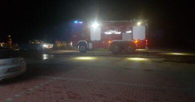 Nocny pożar (zdjęcia)