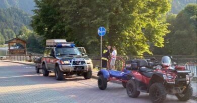 Akcja ratunkowa na Dunajcu (zdjęcia)