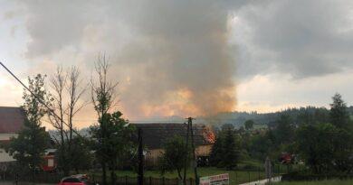 Kolejny pożar na Orawie (zdjęcia)