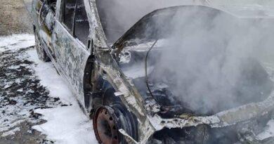 Pożar samochodu (zdjęcia)